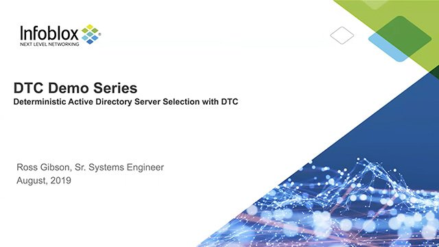 DNS Traffic Control (DTC): Using Service Records (SRV) For Selecting Active Directory Servers