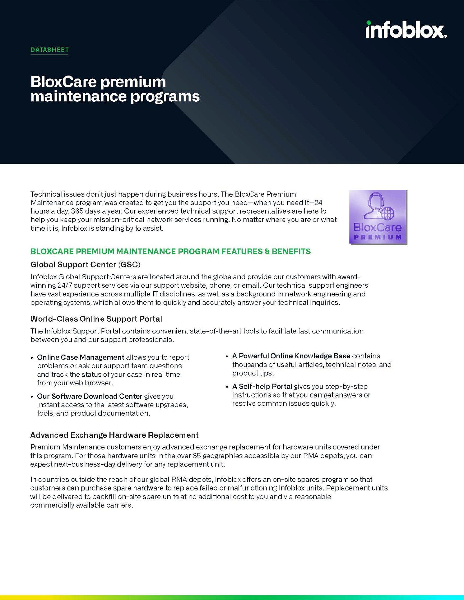 BloxCare Premium Maintenance Program