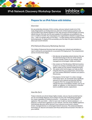 IPv6 Network Discovery Workshop Service