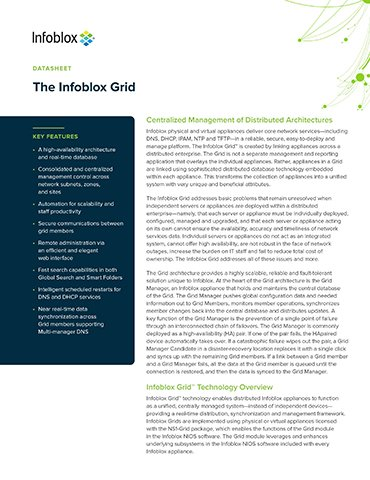 The Infoblox Grid