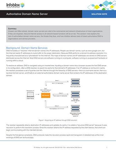 Authoritative Domain Name Server