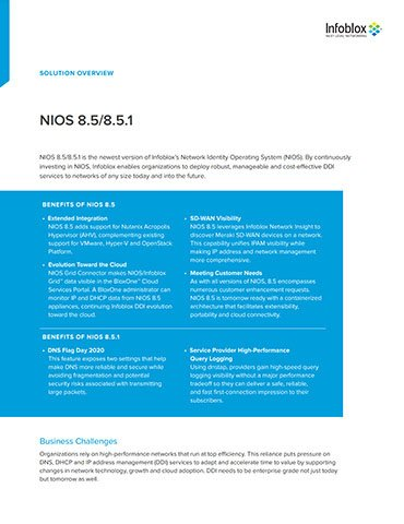 NIOS 8.5/8.5.1