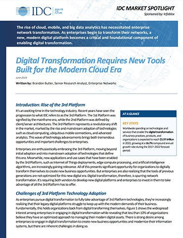 IDC: Digital Transformation Requires New Tools Built For The Modern Cloud Era
