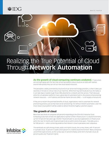 Realizing Cloud Potential Through Network Automation